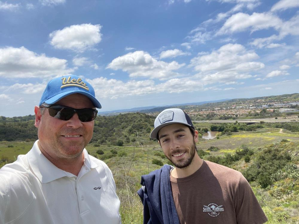 VP Ken Potter hiking
